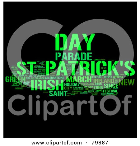Royalty-Free (RF) Stock Illustration of a Collage Of Words; St Patrick's Day - Version 3 by MacX