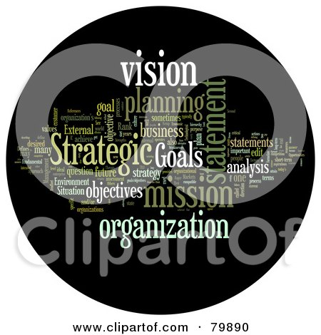 Royalty-Free (RF) Stock Illustration of a Collage Of Words; Strategic Planning - Version 2 by MacX