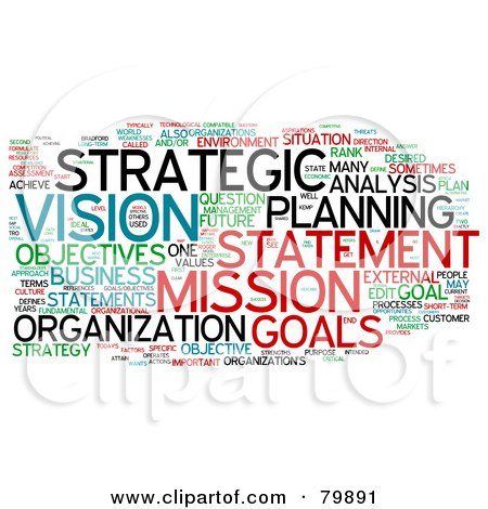 Royalty-Free (RF) Stock Illustration of a Collage Of Words; Strategic Planning - Version 3 by MacX