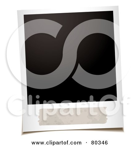 Royalty-Free (RF) Clipart Illustration of a Blank Polaroid Picture With Space For A Description by michaeltravers