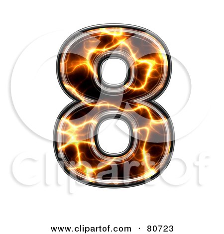 Royalty-Free (RF) Clipart Illustration of an Electric Symbol; Number 8 by chrisroll