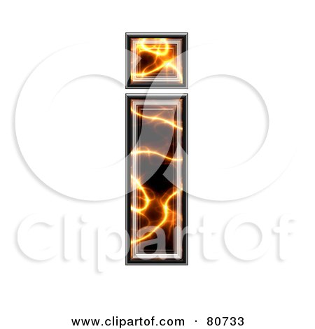 Royalty-Free (RF) Clipart Illustration of an Electric Symbol; Lowercase Letter I by chrisroll