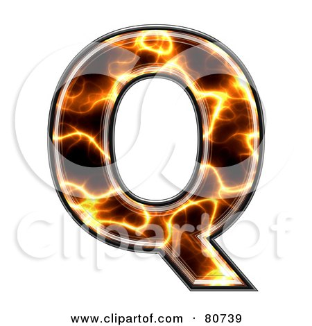 Royalty-Free (RF) Clipart Illustration of an Electric Symbol; Capitol Letter Q by chrisroll