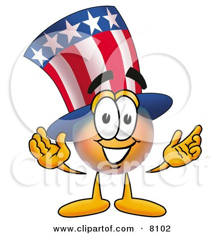 Clipart Picture of an Uncle Sam Mascot Cartoon Character With Welcoming Open Arms by Toons4Biz