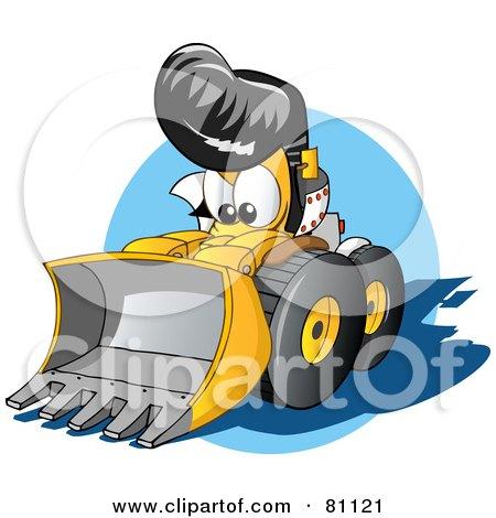 Royalty-Free (RF) Clipart Illustration of a Tough Elvis Bulldozer by Holger Bogen