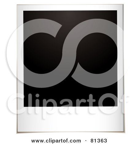 Royalty-Free (RF) Clipart Illustration of a Blank Black Polaroid Instant Photo by michaeltravers