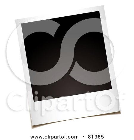 Royalty-Free (RF) Clipart Illustration of a Blank Black Polaroid Instant Picture by michaeltravers