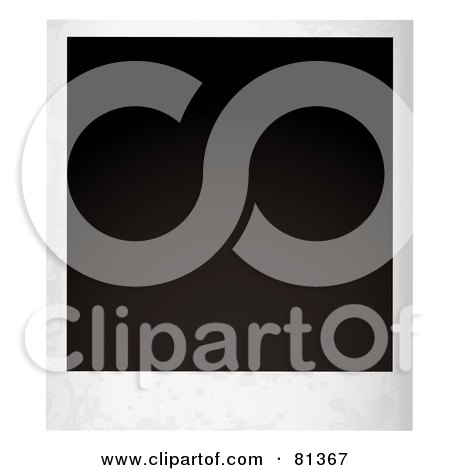 Royalty-Free (RF) Clipart Illustration of a Blank Black Polaroid Picture by michaeltravers