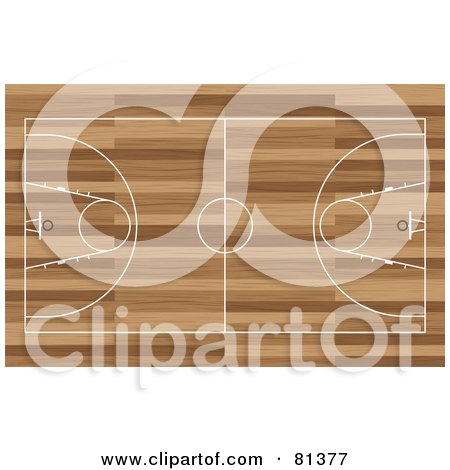 Basketball Court Aerial On Wood Posters, Art Prints