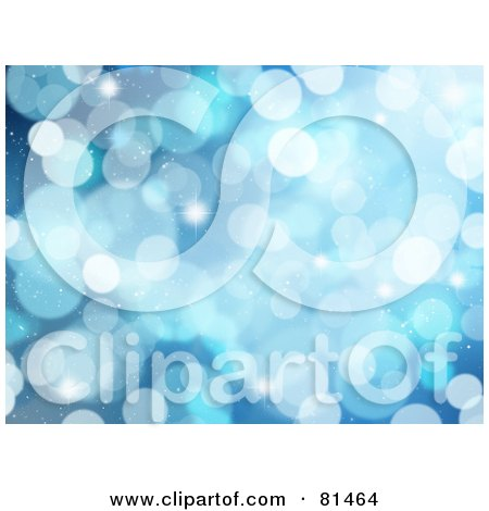 Royalty-Free (RF) Clipart Illustration of a Sparkle Blue Background by KJ Pargeter