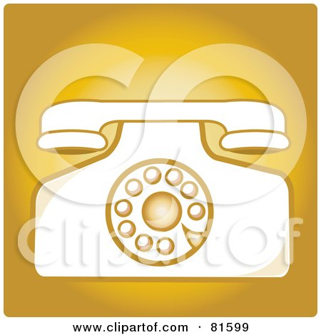Royalty-Free (RF) Clip Art Illustration of a Vintage Rotary Desk Telephone - Version 3 by Pams Clipart