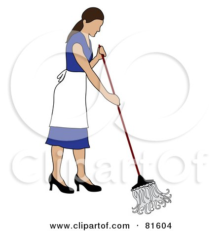 Mop Floor Cleaning Clip Art
