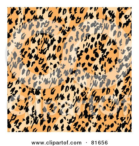 Royalty-Free (RF) Clipart Illustration of a Diagonal Patterned Leopard Print Background With White Edges by Andy Nortnik