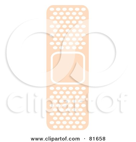 Royalty-Free (RF) Clipart Illustration of a Pink Adhesive Bandage With Air Holes by Andy Nortnik