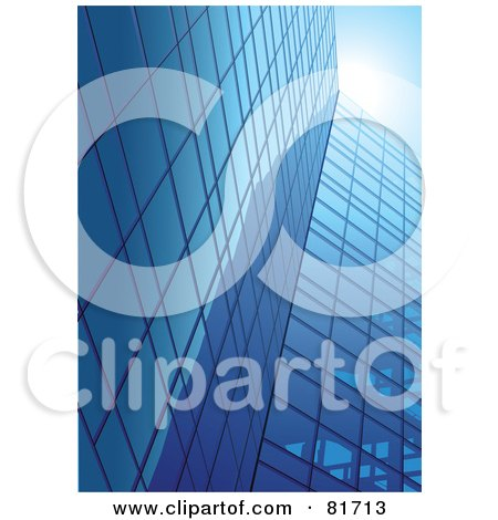 Tall Glass Mirror Office Buildings Under A Blue Sky Posters, Art Prints