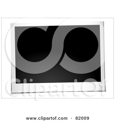 Royalty-Free (RF) Clipart Illustration of a Blank Instant Landscape Polaroid Photo Picture by michaeltravers