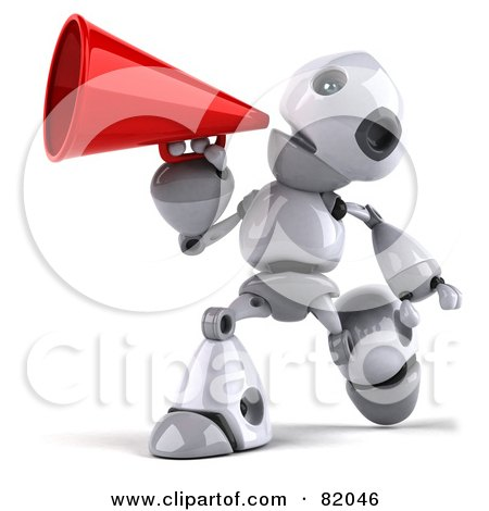 Royalty-Free (RF) Clipart Illustration of a 3d Robot Boy Character ...