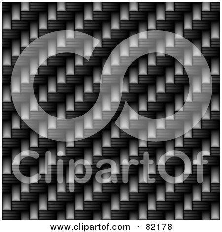 Royalty-Free (RF) Clipart Illustration of a Seamless Dark Carbon Fiber Weave Background by Arena Creative