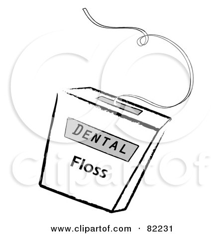 Royalty-Free (RF) Clipart Illustration of a Container Of Dental Floss by Pams Clipart