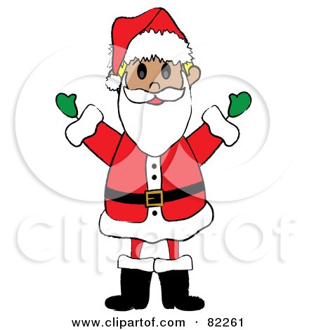 Royalty-Free (RF) Clipart Illustration of a Happy Kid Santa In A Suit by Pams Clipart