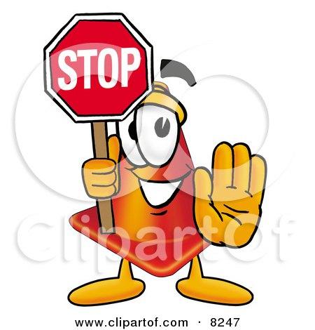 Traffic Cone Cartoon Traffic Cone Mascot Cartoon