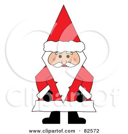 Royalty-Free (RF) Clipart Illustration of Santa Standing And Wearing A Conical Hat by Pams Clipart