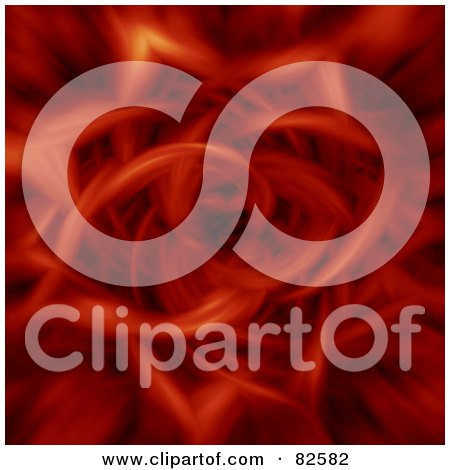 Royalty-Free (RF) Clipart Illustration of a Red Tunnel Of Flames by oboy