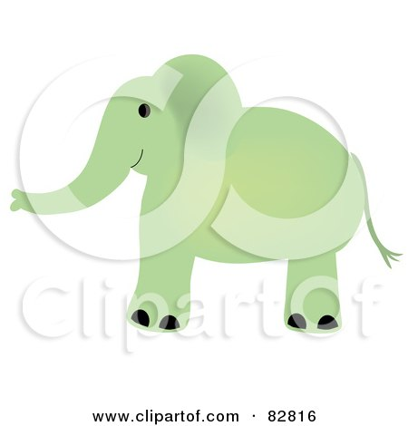 Royalty-Free (RF) Clipart Illustration of a Green Baby ...
