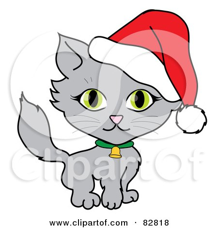 royalty free rf christmas cat clipart illustrations vector rh clipartof com christmas cat clipart free christmas cats clipart