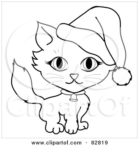 dc5e9ddb Royalty-Free (RF) Clipart Illustration of a Black And White Outline Of A
