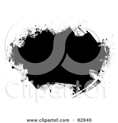 Clipart Of A Roller Paint Brush With A Swoosh Of Blue ...