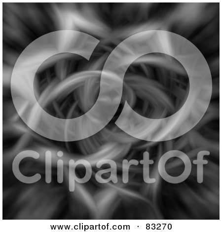 Royalty-Free (RF) Clipart Illustration of a Dark Gray And Black Fractal Like Tunnel by oboy