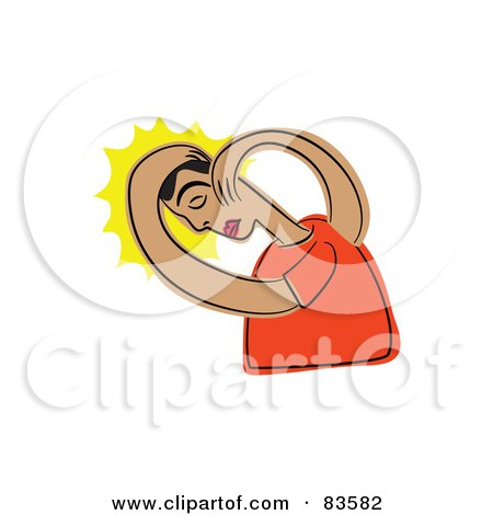 Royalty-Free (RF) Clipart Illustration of an Abstract Man With A Headache by Prawny