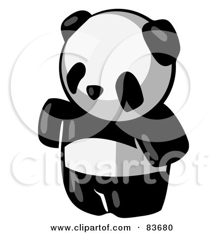 Royalty-Free (RF) Clipart Illustration of a Standing Animal Giant Panda Bear by Leo Blanchette