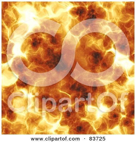 Royalty-Free (RF) Clipart Illustration of a Background Of A Hot Fiery Explosion by Arena Creative