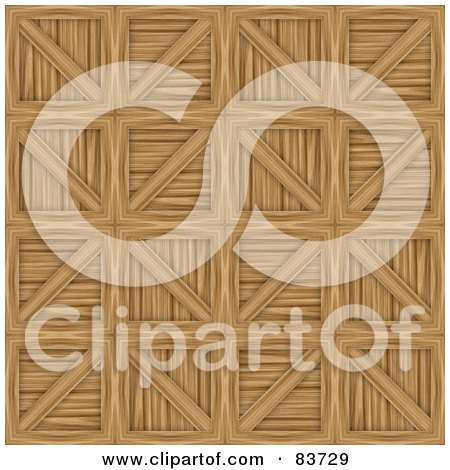 Royalty-Free (RF) Clipart Illustration of a Background Of Wooden Crates by Arena Creative