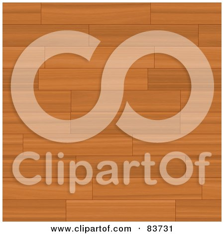 Royalty-Free (RF) Clipart Illustration of a Background Of Wooden Flooring by Arena Creative