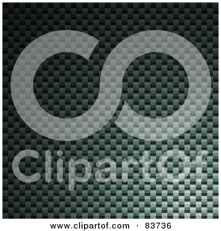 Royalty-Free (RF) Clipart Illustration of a Carbon Fiber Background With Green Light Cast On It by Arena Creative
