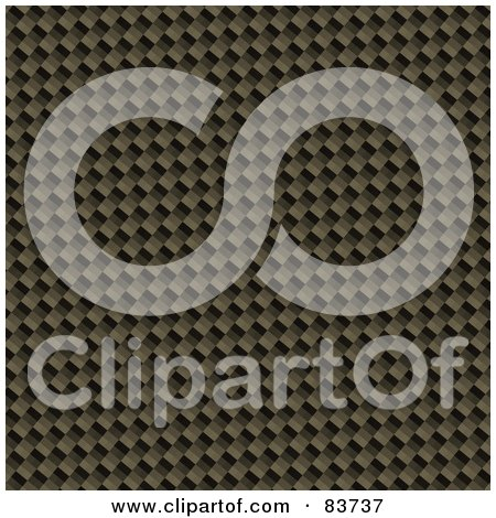 Royalty-Free (RF) Clipart Illustration of a Golden Carbon Fiber Background by Arena Creative