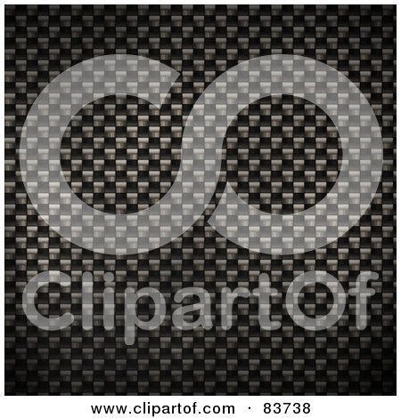 Royalty-Free (RF) Clipart Illustration of a Carbon Fiber Weave Background by Arena Creative