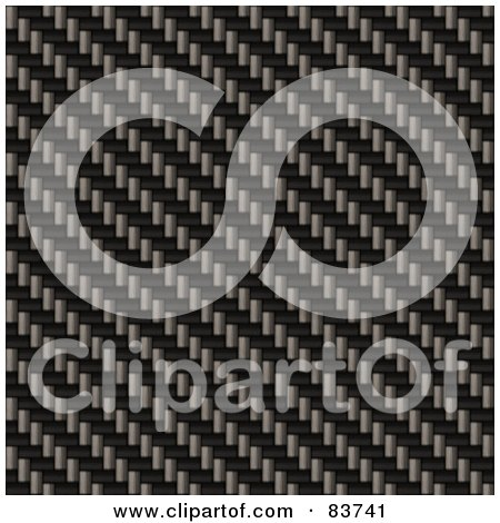 Royalty-Free (RF) Clipart Illustration of a Diagonal Weave Carbon Fiber Background by Arena Creative