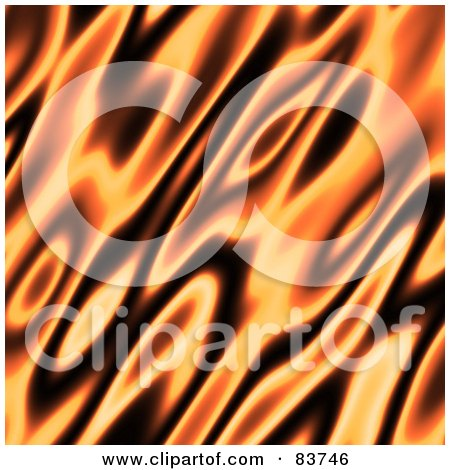 Royalty-Free (RF) Clipart Illustration of a Blurred Orange And Black Flame Background by Arena Creative
