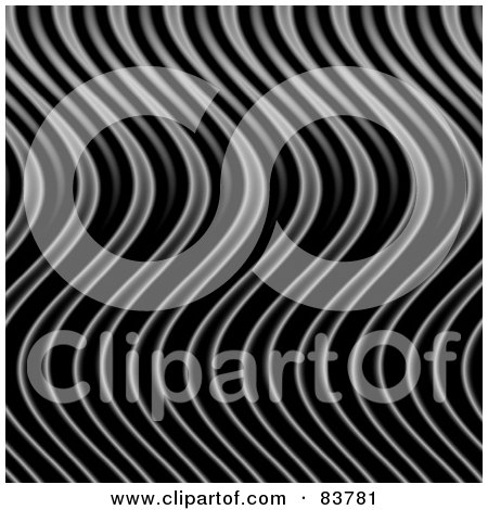 Royalty-Free (RF) Clipart Illustration of a Wavy Silver Flames Background by Arena Creative
