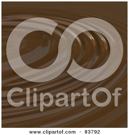 Royalty-Free (RF) Clipart Illustration of a Chocolate Ripple Background by Arena Creative