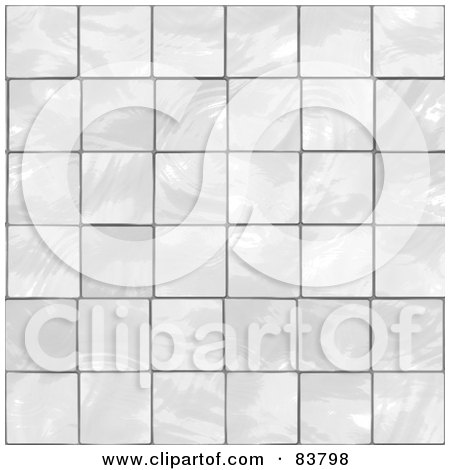 Royalty-Free (RF) Clipart Illustration of a White Glass Tile Background by Arena Creative
