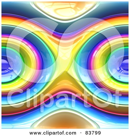 Royalty-Free (RF) Clipart Illustration of a Seamless Rainbow Circle Background by Arena Creative