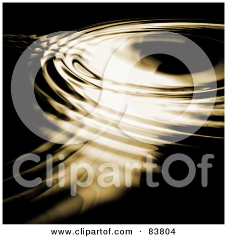 Royalty-Free (RF) Clipart Illustration of Light On Golden Rippling Water by Arena Creative