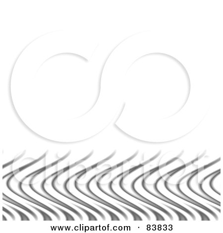 Royalty-Free (RF) Clipart Illustration of a White Background With A Lower Border Of Silver Flames by Arena Creative