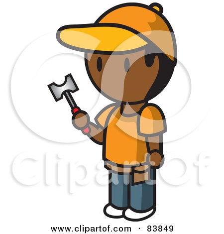 Indian Mini Person Man Holding A Hammer Posters, Art Prints