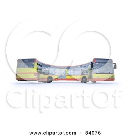 3d Curving City Bus Posters, Art Prints